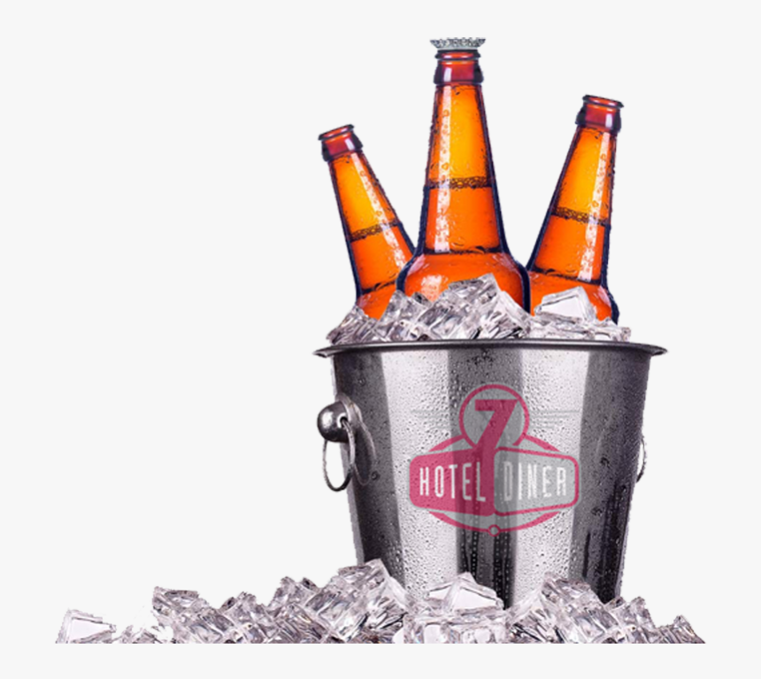 Beer Bucket Trans Beer In Ice Bucket Hd Png Download