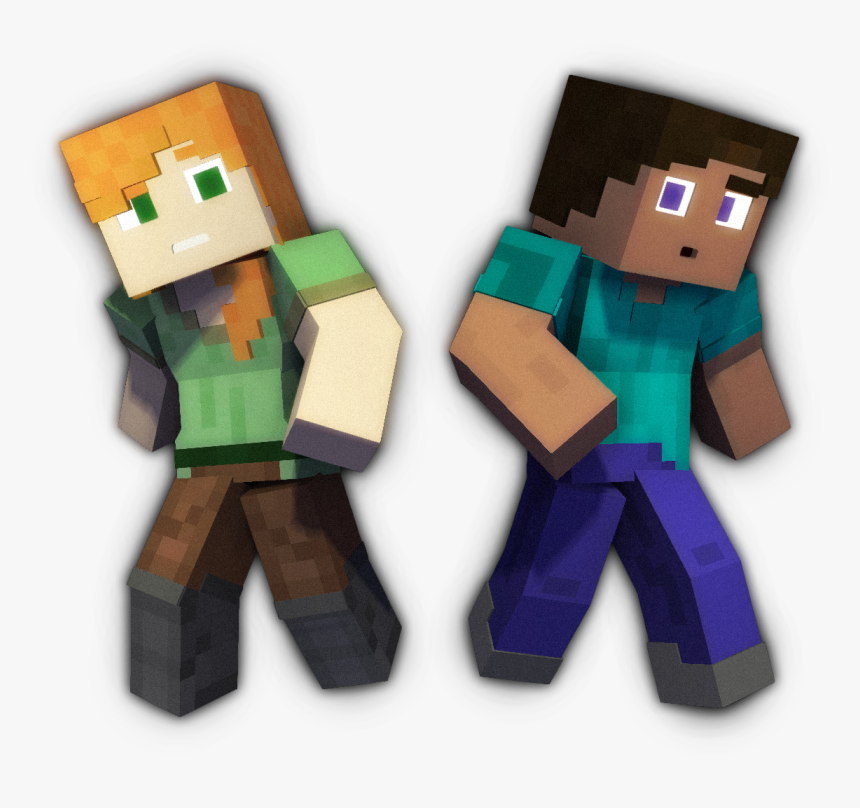 Minecraft Steve And Alex Png Transparent Png Transparent Png Image Pngitem