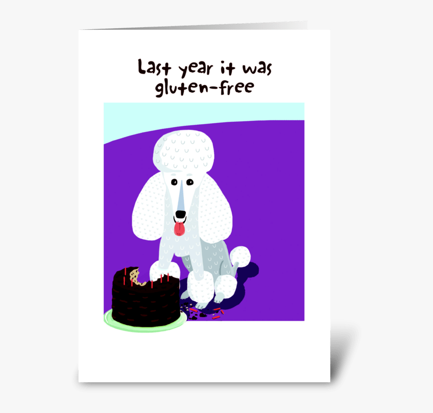 Super Poodle Birthday Cake Greeting Card Standard Poodle Hd Png Funny Birthday Cards Online Aeocydamsfinfo