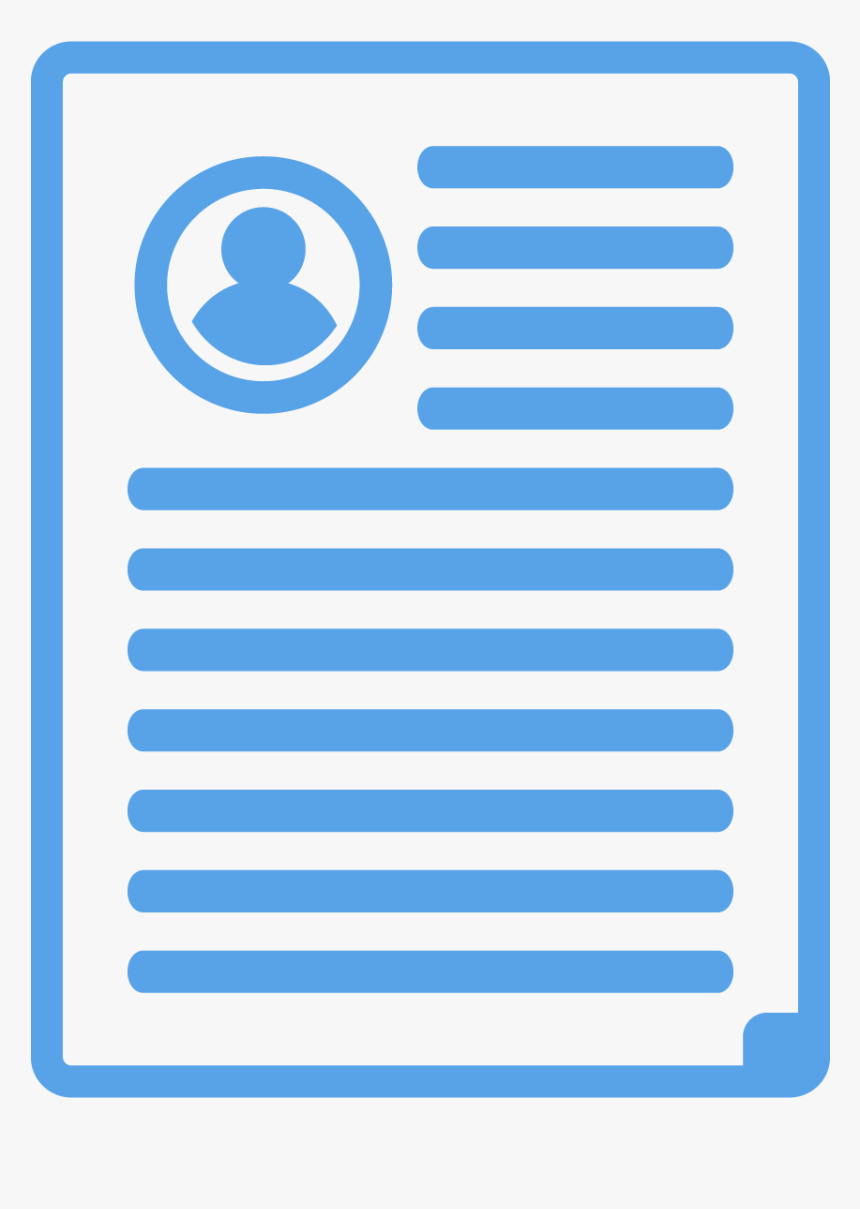 Blue Icons Resume Circle Hd Png Download Transparent Png
