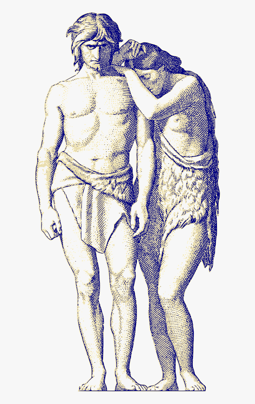 Adam And Eve Drawing, HD Png Download , Transparent Png Image ...