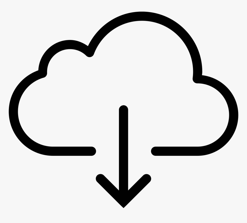Download Button Transparent Image Download From Cloud Icon Hd