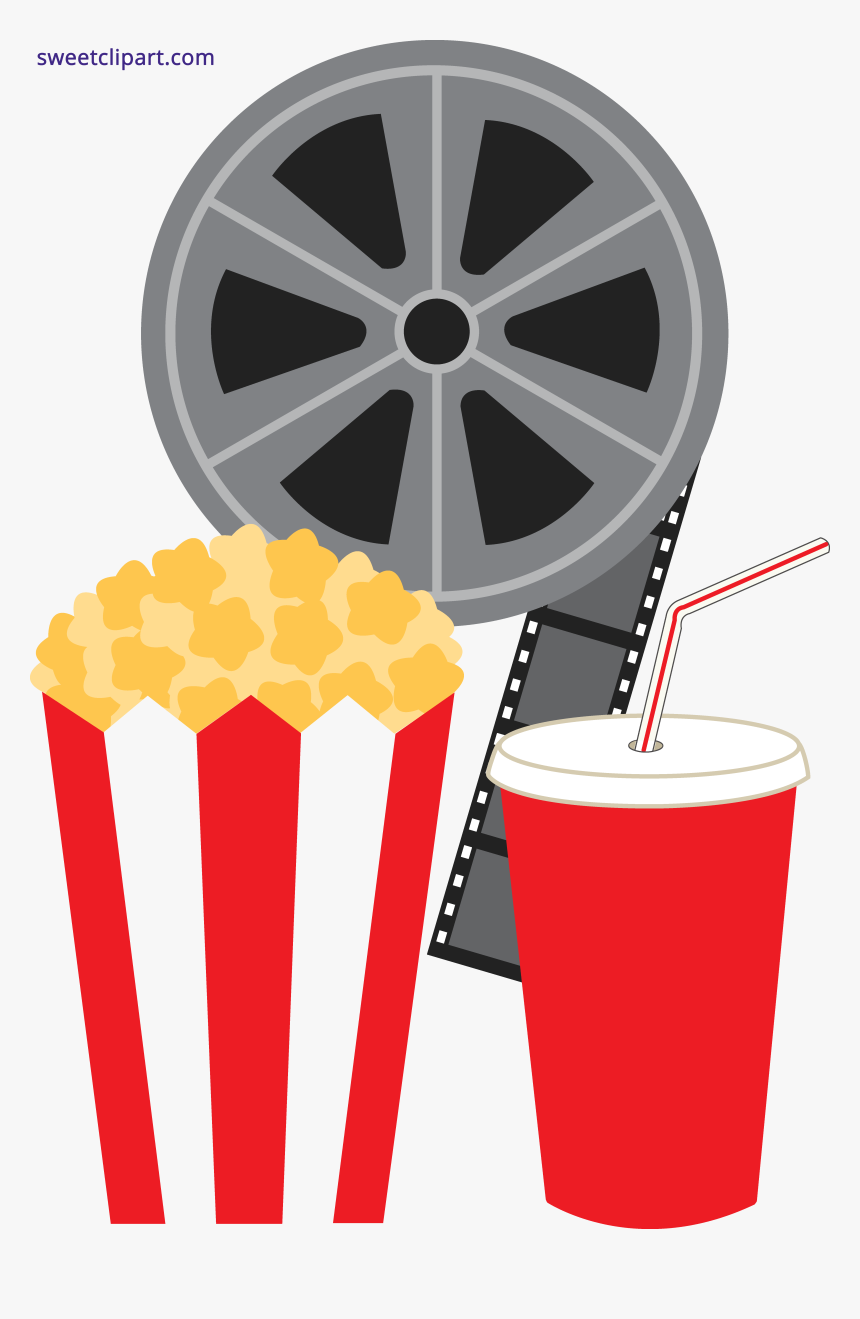 Popcorn Soda And Movie Clipart Transparent Png Clip Art Movie Reel Png Download Transparent Png Image Pngitem
