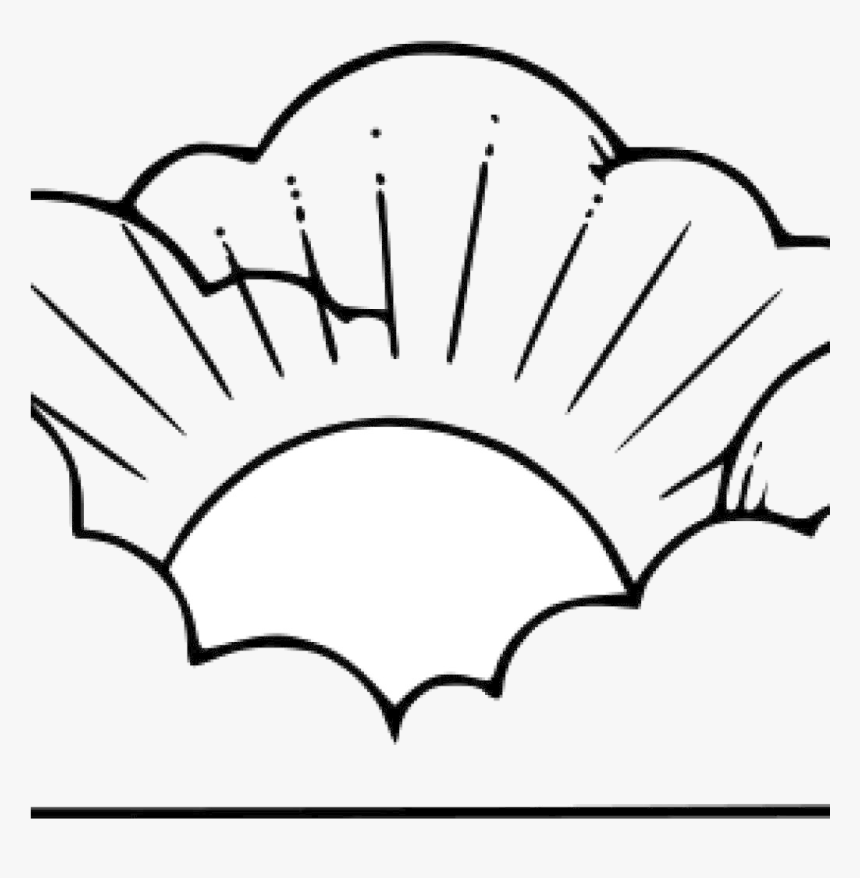 Cloud Clipart Black And White Sun Clouds Transparent Png Clipart