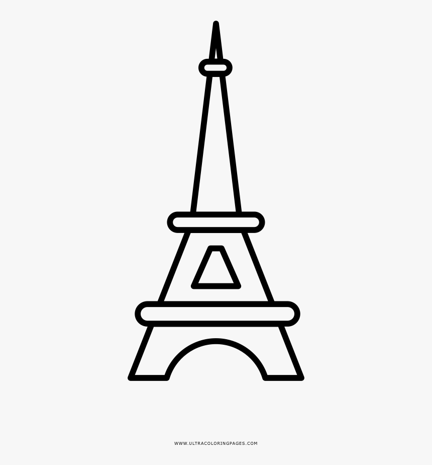 Eiffel Tower Coloring Page Hd Png