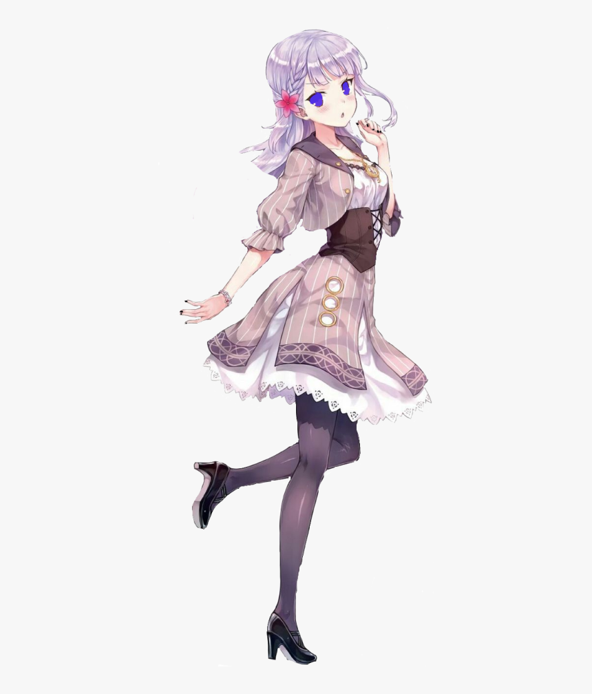 Anime girls with purple hair