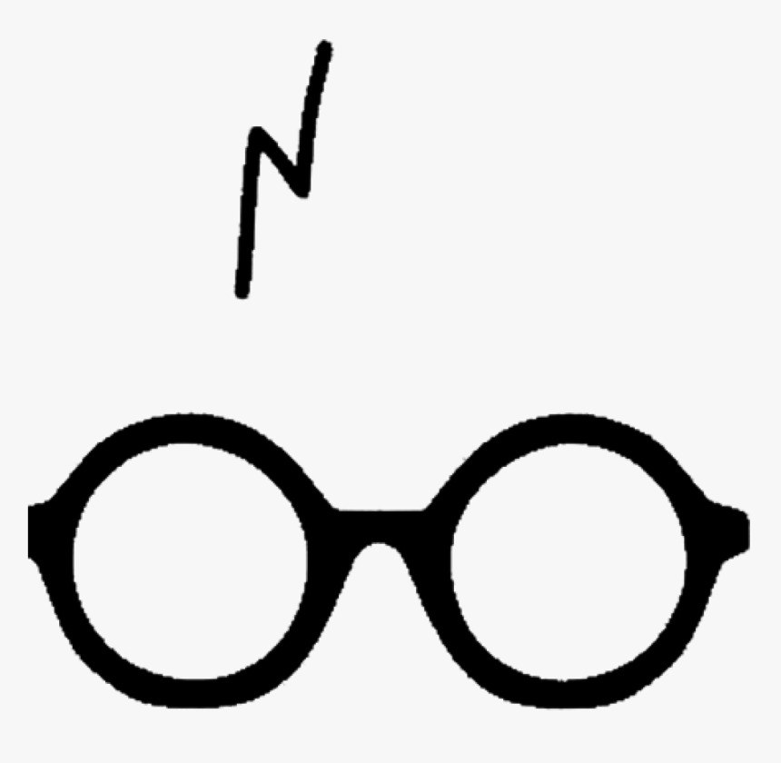 clip art cicatriz do harry potter thick rimmed round glasses hd png download transparent png image pngitem thick rimmed round glasses hd png