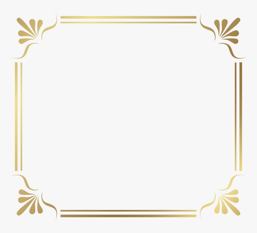 Transparent Fantasy Border Png - Gold Page Border Png, Png ...