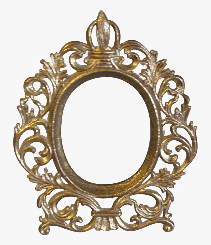 Small Vintage Oval Table Top Photograph Frame Png Transparent Vintage Gold Frame Png Png Download Transparent Png Image Pngitem