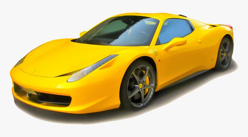 Ferrari Ferrari 458 Sports Car Yellow Ferrari Jaune Hd Png Download Transparent Png Image Pngitem