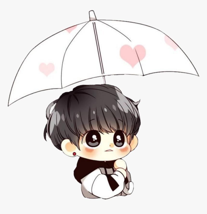 194 1942975 bts cute chibi rain umbrella jungkook jungkook bts