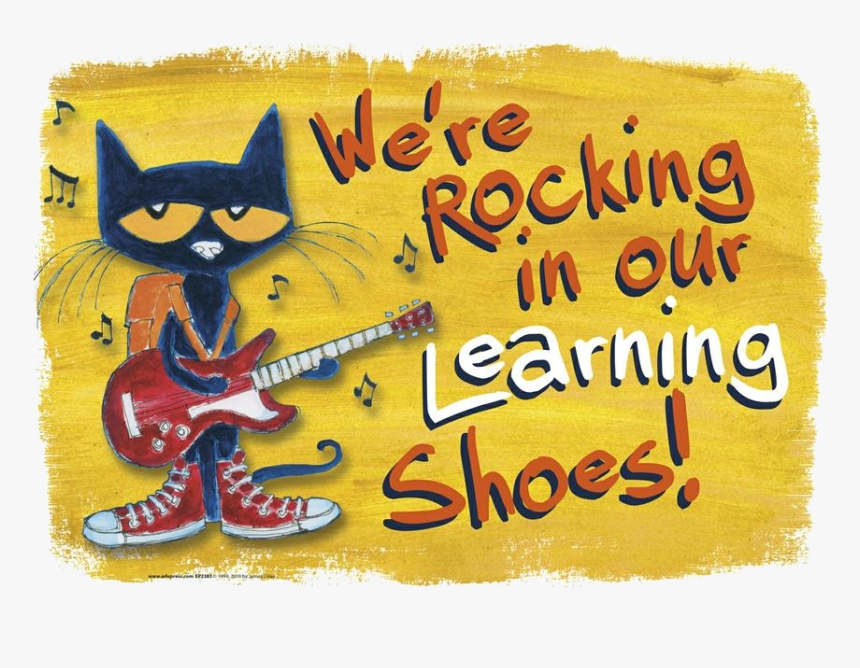Pete The Cat Rocking In My School Shoes Clipart Abeoncliparts Pete The Cat Rocking In My Learning Shoes Hd Png Download Transparent Png Image Pngitem