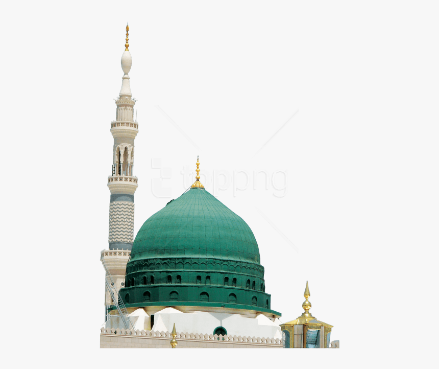 green dome masjid nabawi hd png download transparent png image pngitem green dome masjid nabawi hd png