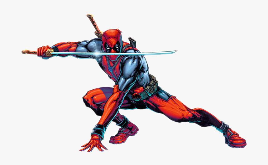 Deadpool Comic With Swords Hd Png Download Transparent Png Image Pngitem