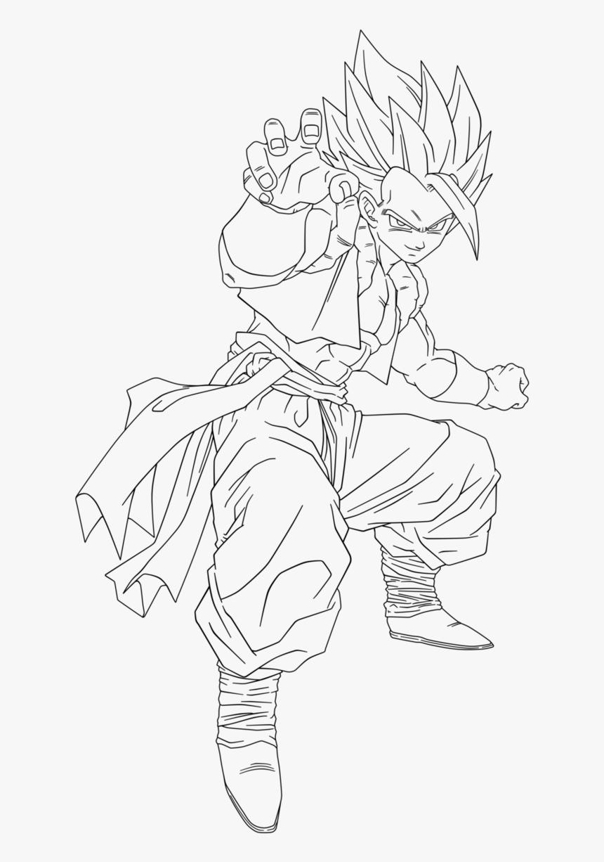 13 Pics Of Dbz Gogeta Coloring Pages Dragon Ball Super