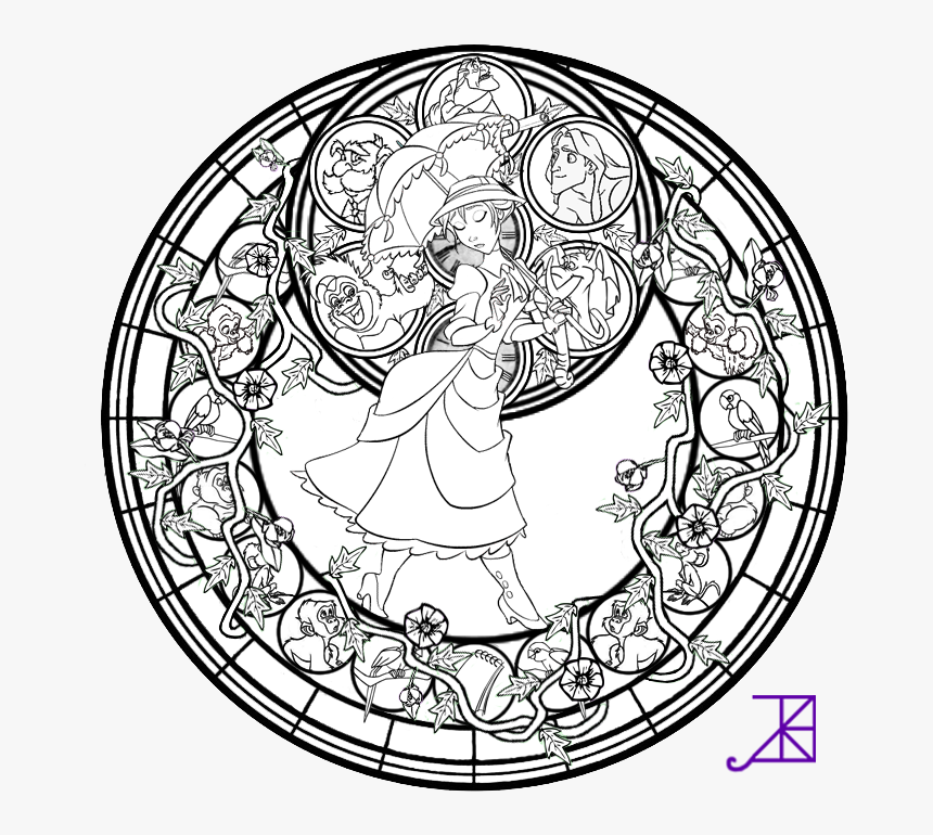 Community People Png Coloring Page - Disney Stained Glass ...