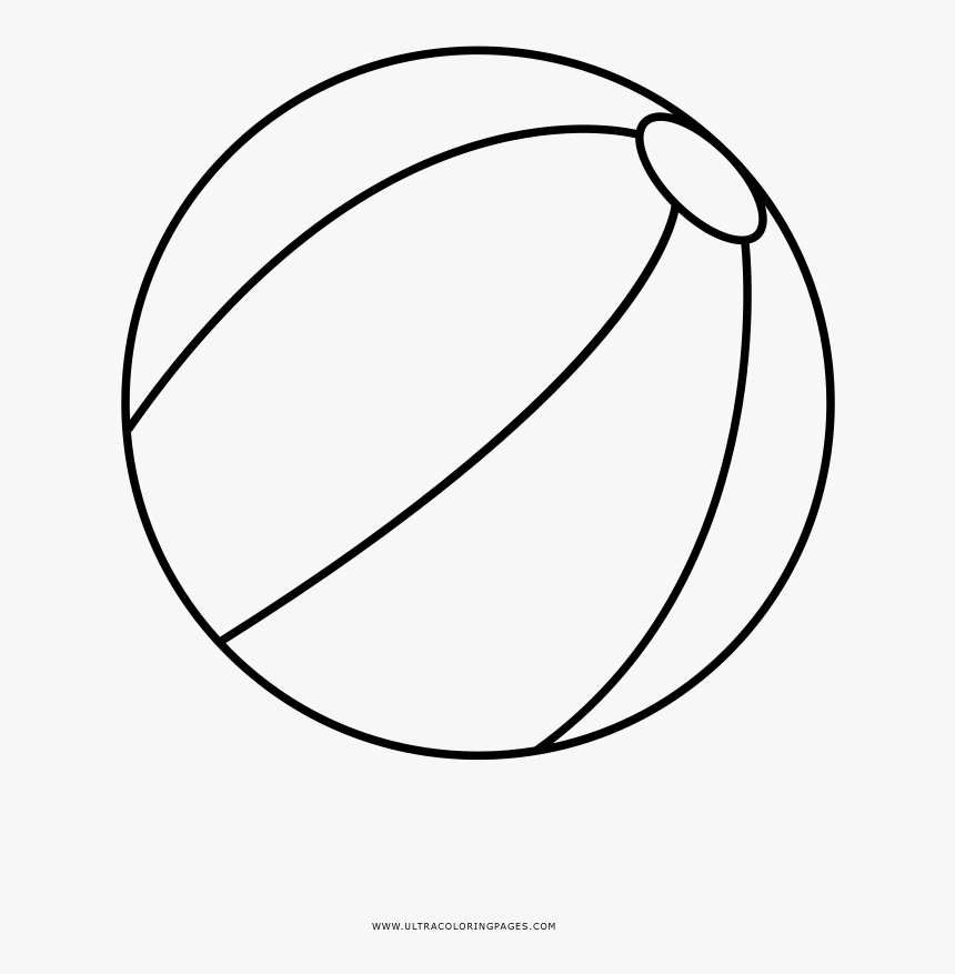 Beach Ball Coloring Page, HD Png Download , Transparent Png Image - PNGitem