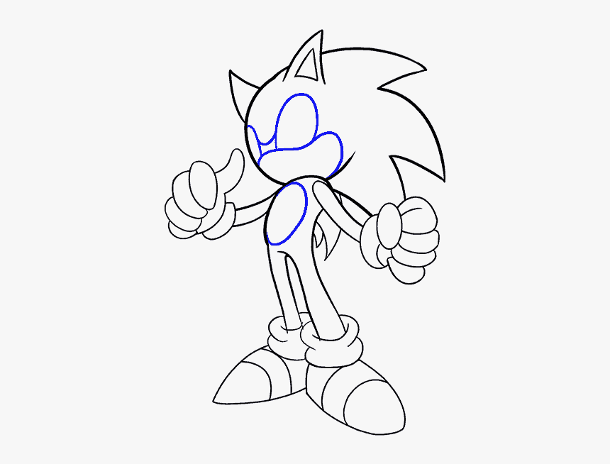 How To Draw Sonic The Hedgehog Hd Png Download Transparent Png Image Pngitem