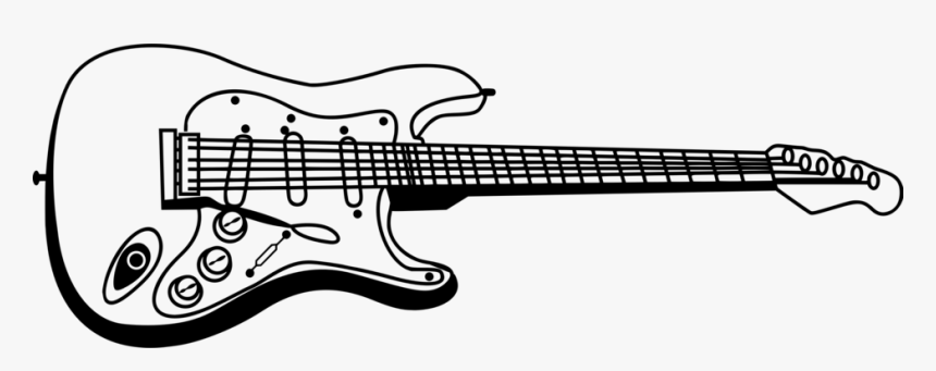 allery of grand guitar clipart black and white silhouette - electric guitar  clipart PNG image with transparent background | TOPpng