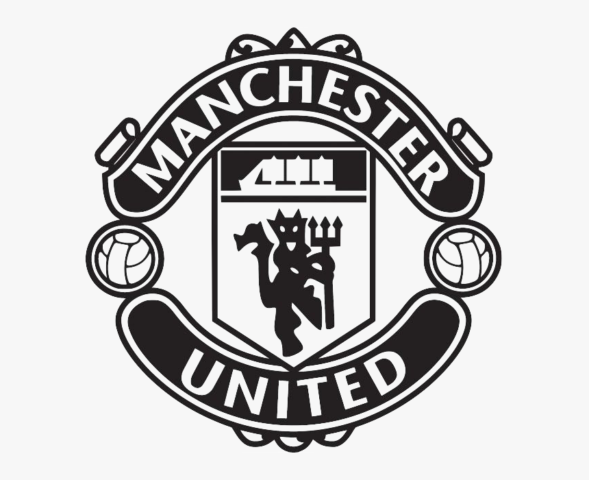 Man United Logo Png Manchester United Logo Black And White Transparent Png Transparent Png Image Pngitem