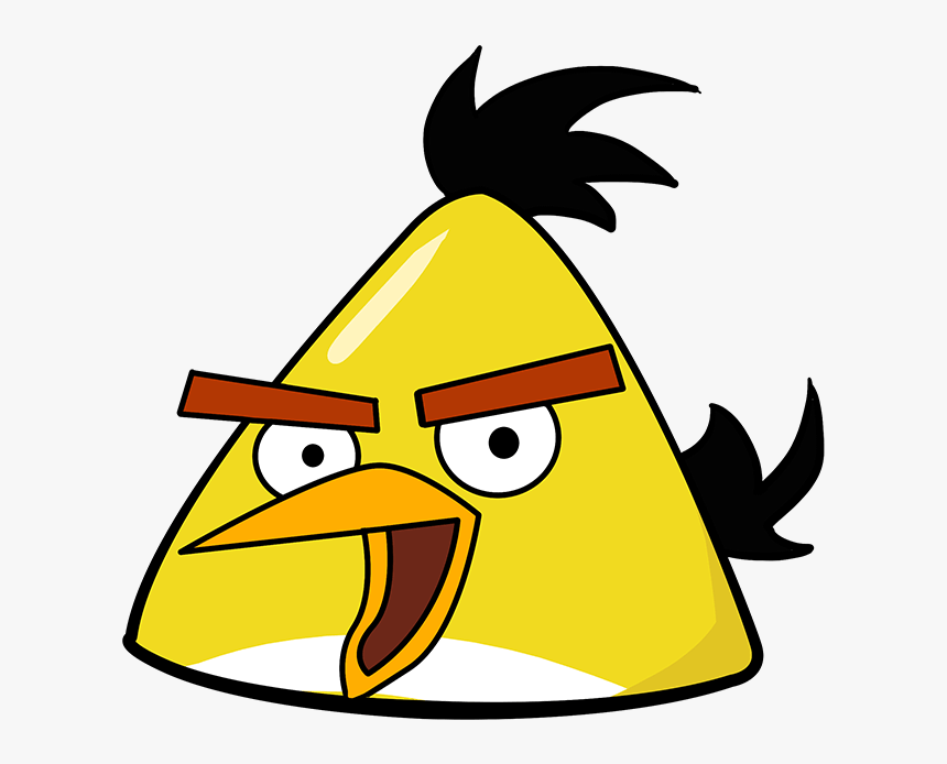 How To Draw Yellow Angry Bird Cartoon Yellow Angry Birds Hd Png Download Transparent Png Image Pngitem