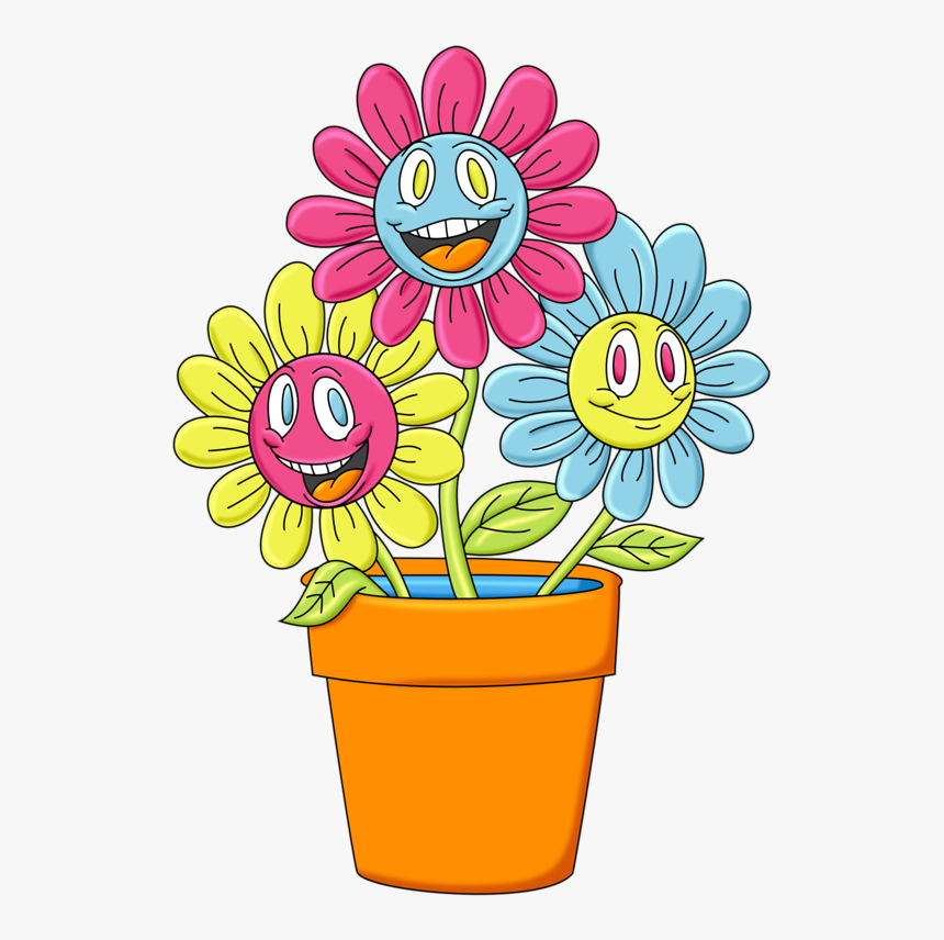 Transparent Potted Flowers Png Cartoon Image Of Flower Pot Png Download Transparent Png Image Pngitem
