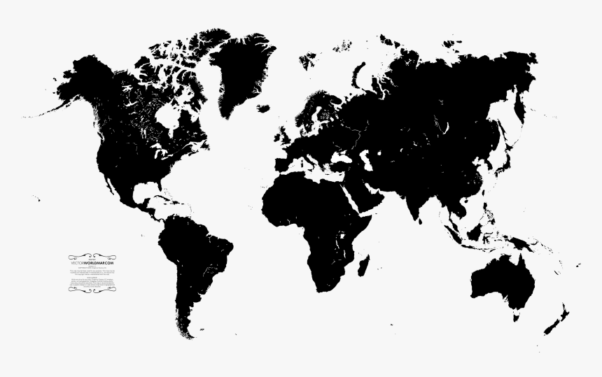 World Map Png File World Map Black And Grey Transparent