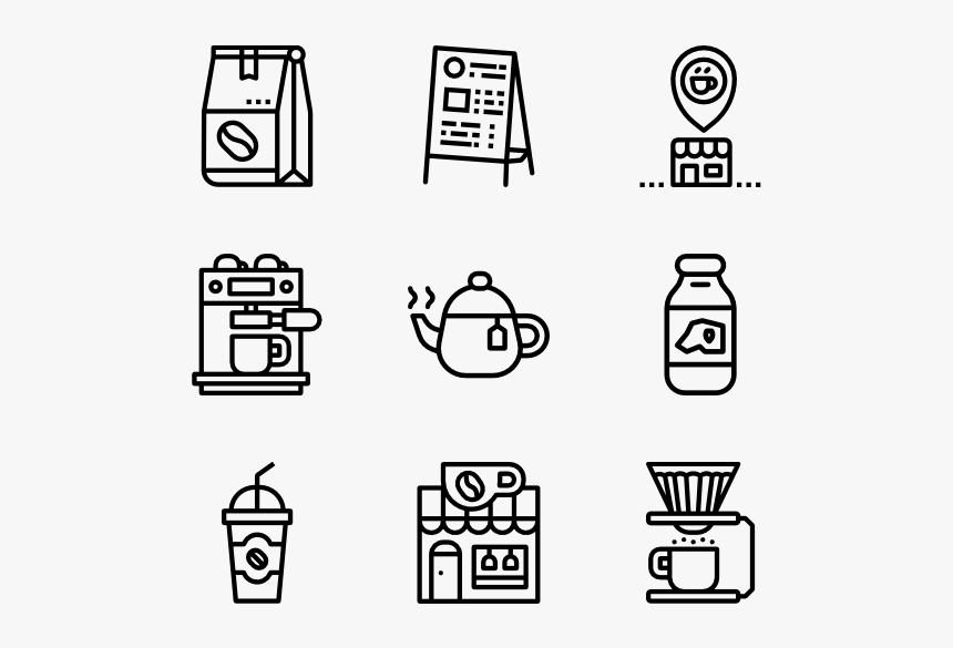 Image Black And White Stock Cafe Icon Packs Png Resume Icons