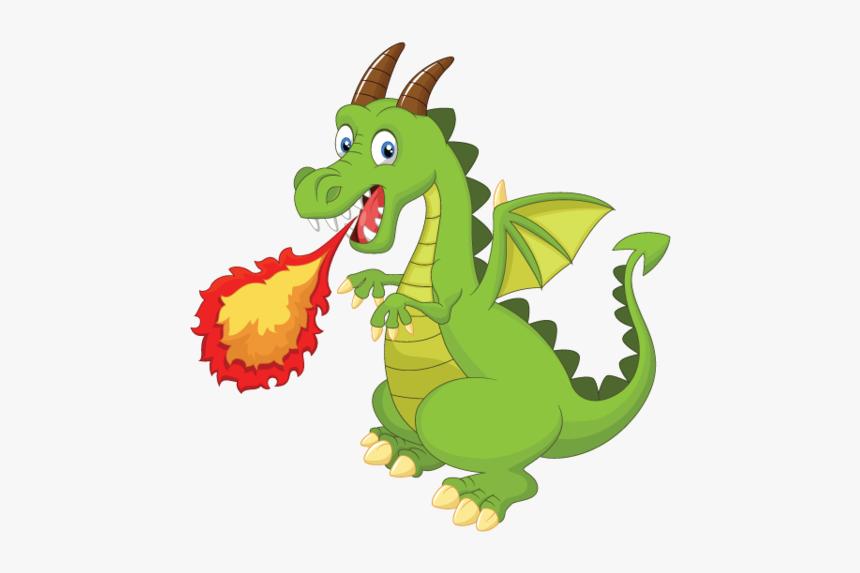 Cartoon Fire Breathing Dragon, HD Png Download , Transparent Png Image -  PNGitem