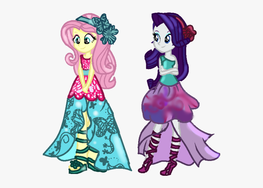 My Little Pony Equestria Girls Rarity And Fluttershy Hd Png Download Transparent Png Image Pngitem