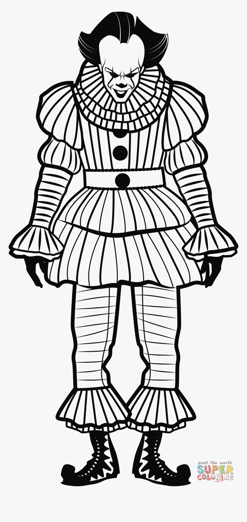 Pennywise Full Body Drawing Hd Png Download Transparent Png Image Pngitem