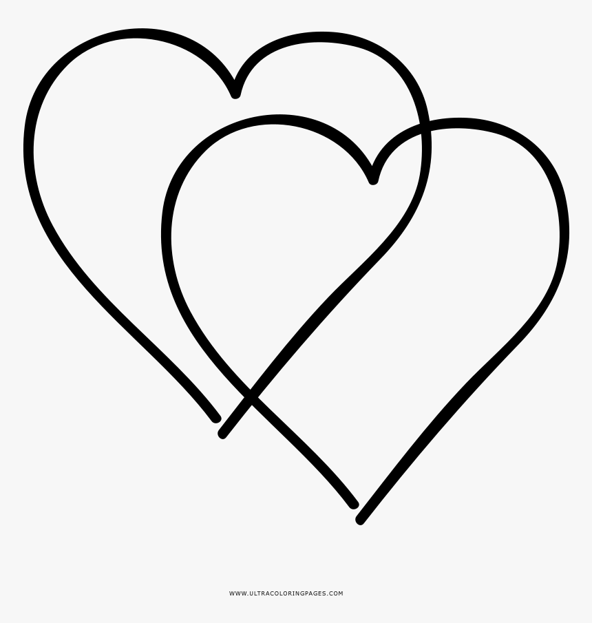 Urgent Double Heart Coloring Pages Page Ultra - Clipart ...
