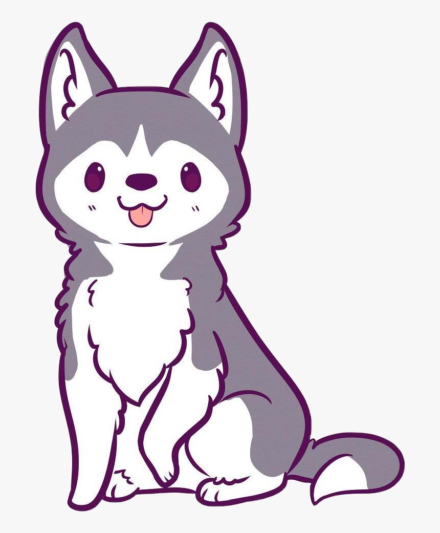 Hd Husky Clipart Kawaii Kawaii Cute Wolf Drawings Hd Png