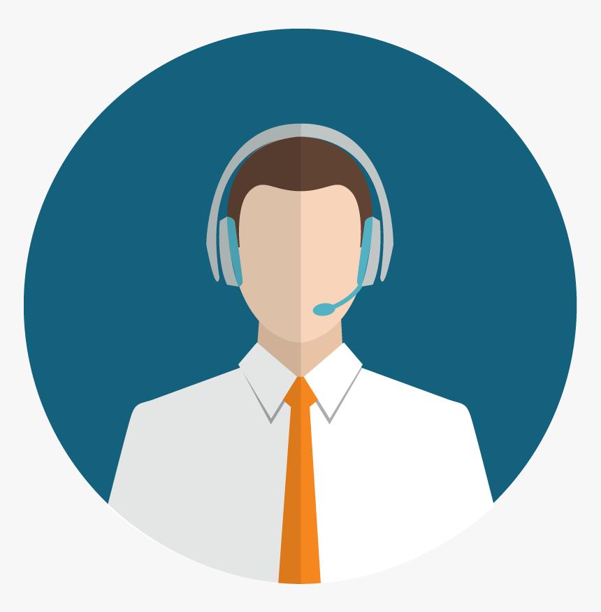 Customer Service Icon - Customer Service Flat Icon Png, Transparent Png ,  Transparent Png Image - PNGitem