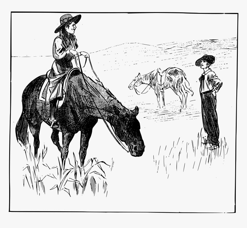 Cowgirl On A Horse Clip Arts Desenho De Vaqueiras Hd Png