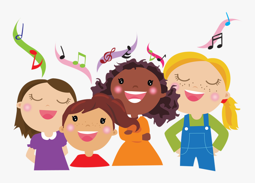 Children S Choir Clipart - Children Singing Clipart, HD Png Download , Transparent Png Image - PNGitem