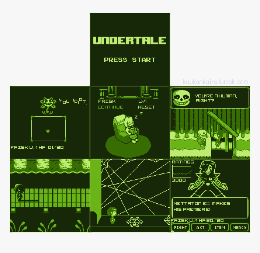 Undertale Press Start Kuukankujraturmblr Undertale For The Gameboy Hd Png Download Transparent Png Image Pngitem