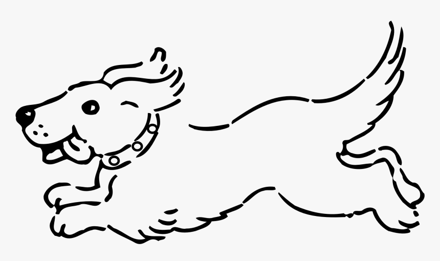 Dog Bone Clip Art Black And White Clipart Free Clipart Dog Running Coloring Pages Hd Png Download Transparent Png Image Pngitem