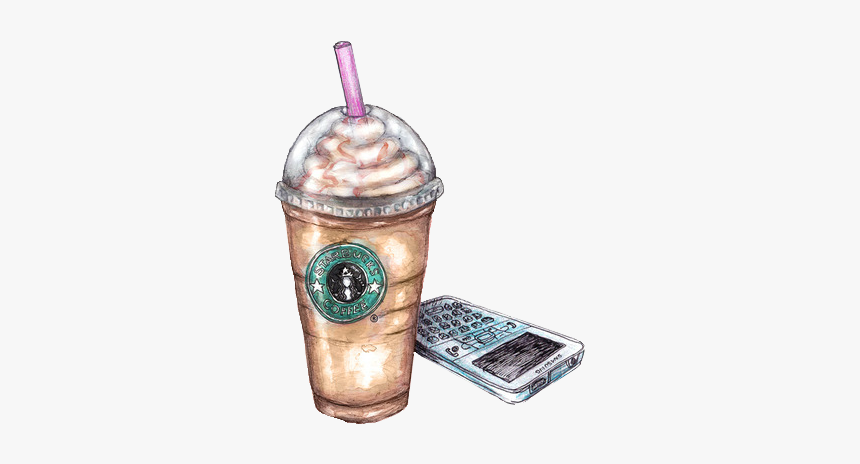 Coffee Starbucks Cafe Tea Frappuccino Drawing Starbucks Caramel Macchiato Hd Png Download Transparent Png Image Pngitem