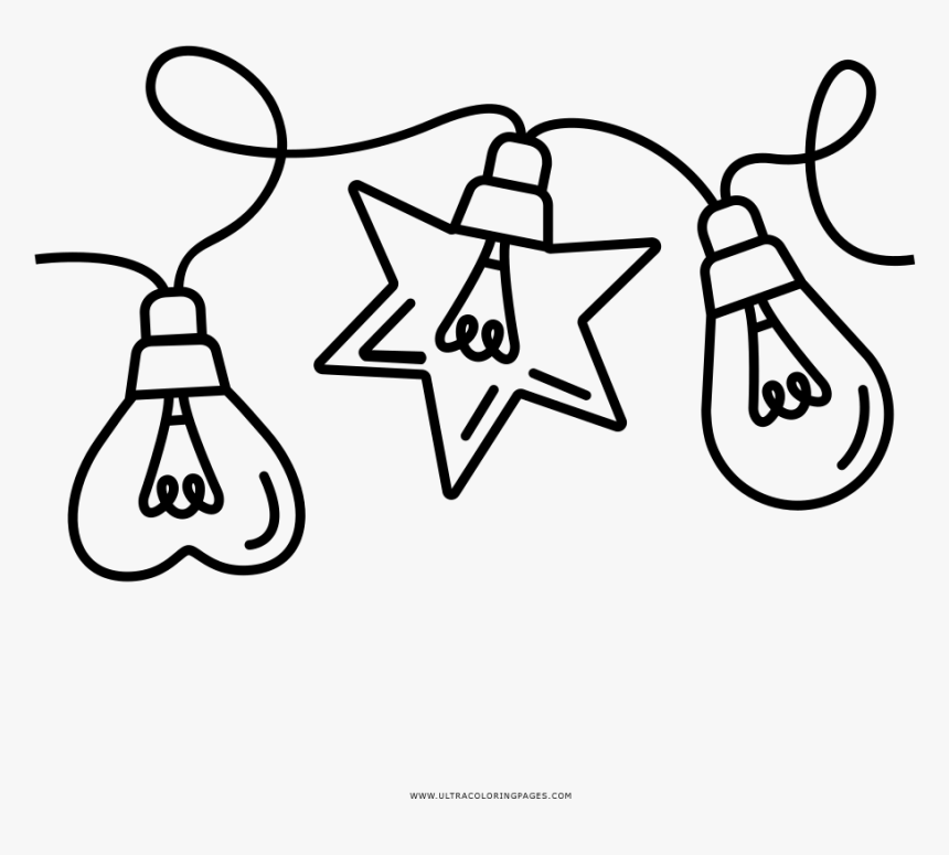Christmas Lights Coloring Page Christmas Light Clipart