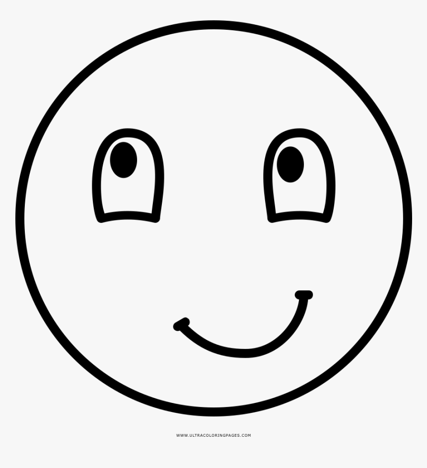 Happy Face Coloring Page