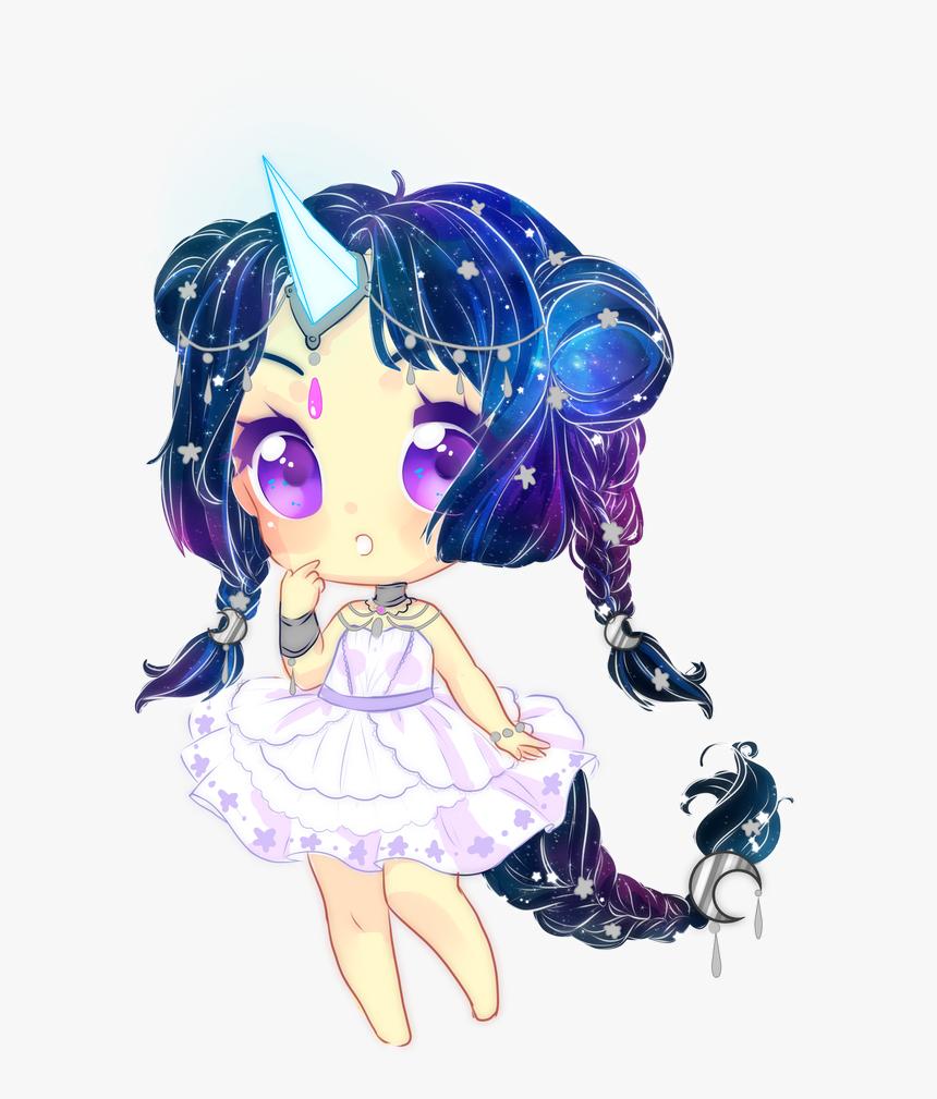 Girl Animegirl Unicorn Cute Drawing Unicorns Anime - Galaxy