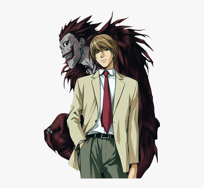 Death Note Ryuk Png Light Yagami And Ryuk Transparent Png