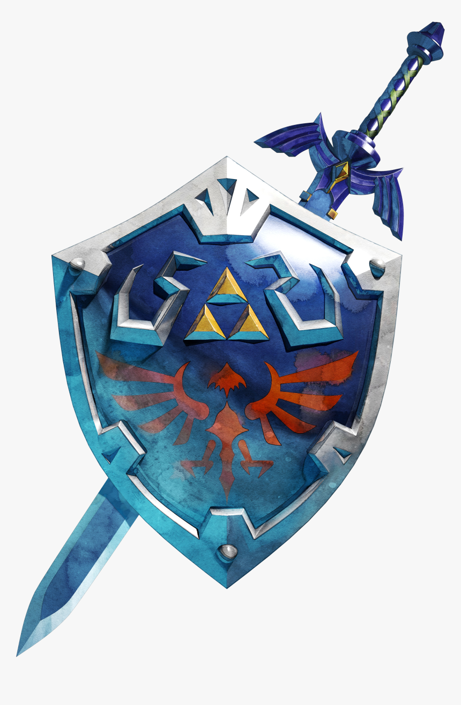 Master Sword Botw And Hylian Shield Hd Png Download Transparent Png Image Pngitem