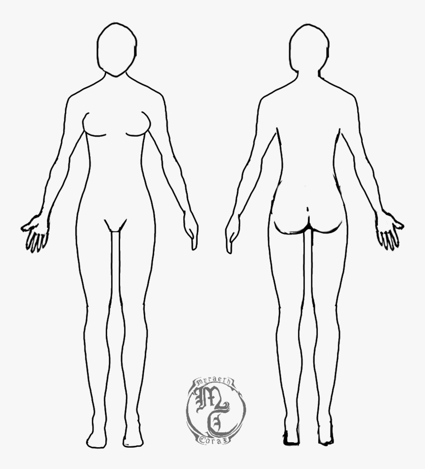 human body outline png - human body outline female, transparent png ,  transparent png image - pngitem  pngitem