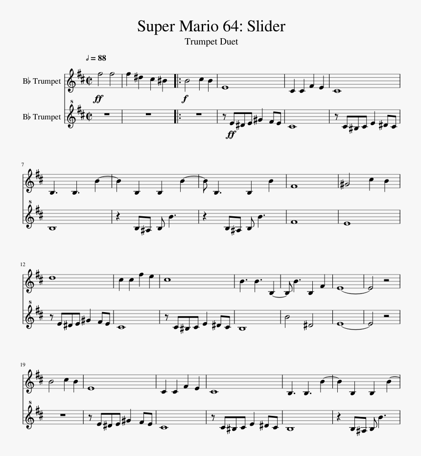 mario kart 64 rainbow road sheet music