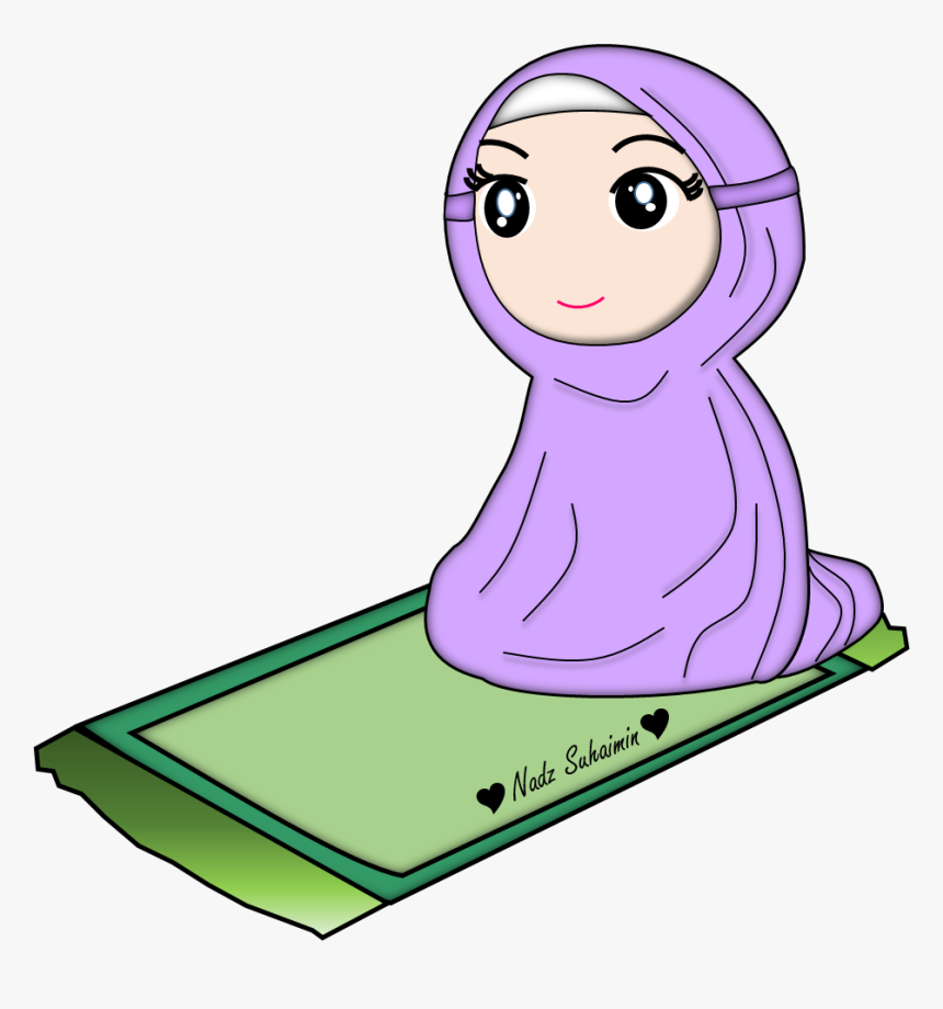 Solat Clipart Hd Wallpaper Download Kartun Muslimah Lucu