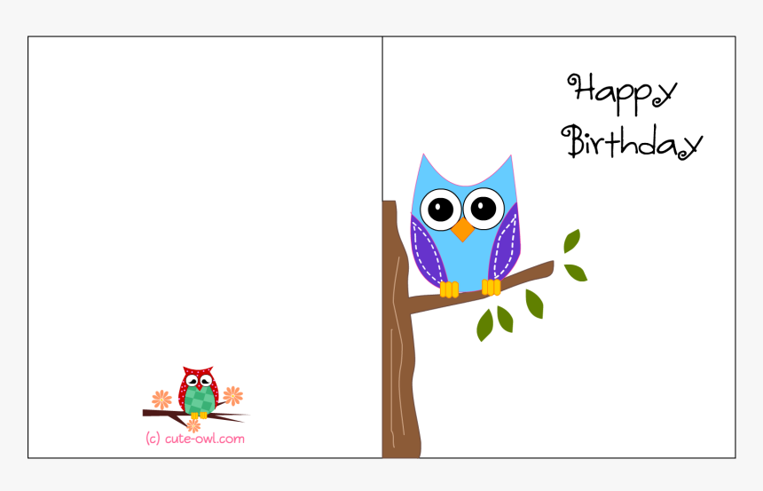 Free Printable Cute Owl Birthday Cards Inside Birthday Happy Birthday Printable Card For Friend Hd Png Download Transparent Png Image Pngitem