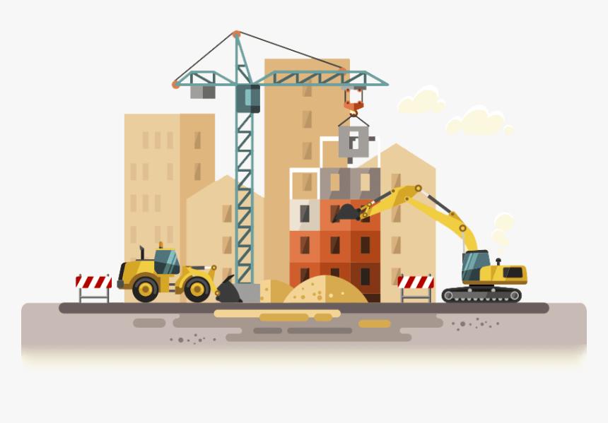 Construction Digital Marketing - Building Construction Clipart, HD Png  Download , Transparent Png Image - PNGitem