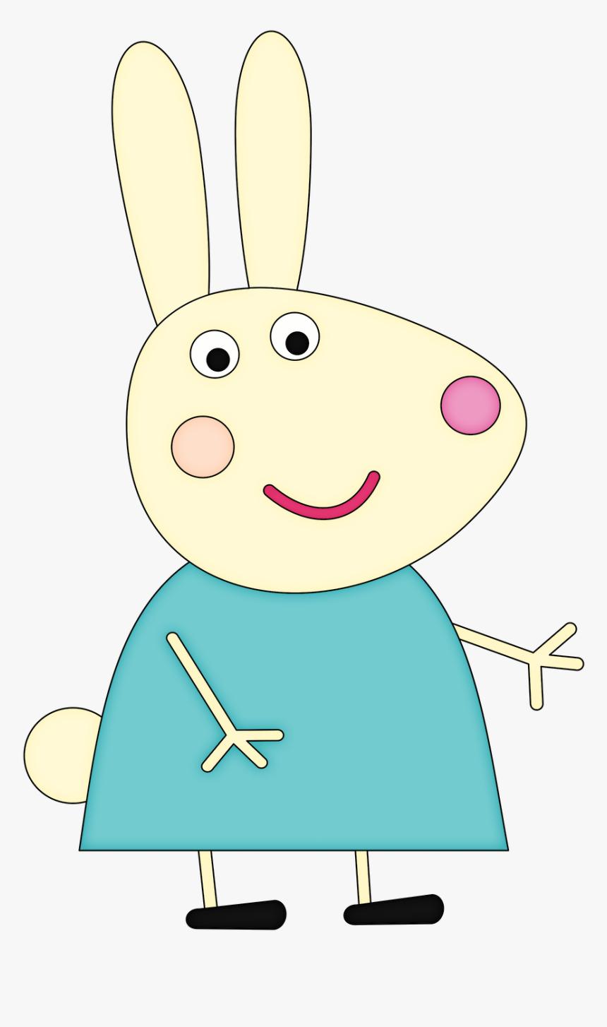 Peppa Pig Rabbit Characters Cartoon Hd Png Download